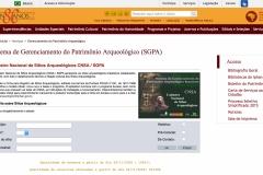 Cadastro Nacional de Sítios Arqueológicos CNSA / SGPA